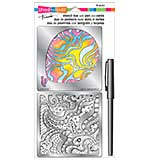 Stampendous Frans Stencil Duo with Pen and Cards - Balloon