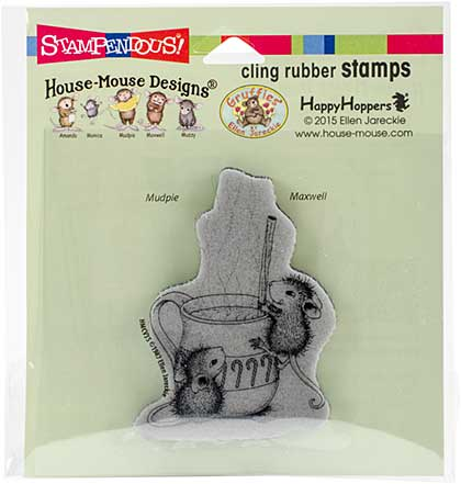 Stampendous House Mouse Cling Stamp - Warm Drink