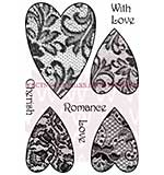 Lace Hearts - Woodware Clear Magic Stamps