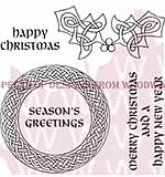 Celtic Circle & Holly - Woodware Clear Magic Stamps