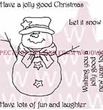 Mr Frosty - Woodware Clear Magic Stamps