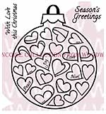 Love Bauble - Woodware Clear Magic Stamps