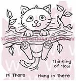 Left Hanging - Woodware Clear Magic Stamps