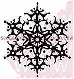 Retro Snowflake - Woodware Clear Magic Stamps