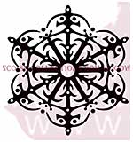 Fancy Snowflake - Woodware Clear Magic Stamps