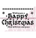Calligraphy Christmas - Woodware Clear Magic Stamps