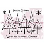 Christmas Trees - Woodware Clear Magic Stamps