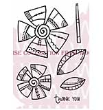 Doodle Daisies - Woodware Clear Magic Stamps