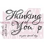 Scripted Thinking Of You - Woodware Clear Magic Stamps