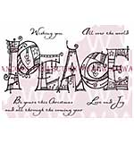 SO: Doodled Peace - Woodware Clear Magic Stamps