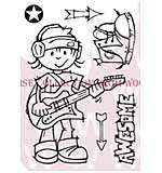 Rock Dude - Woodware Clear Magic Stamps