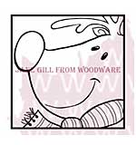 Rudolf - Woodware Clear Magic Stamps