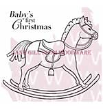 SO: Rocking Horse - Woodware Clear Magic Stamps
