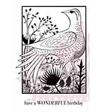Woodland Bird - Woodware Clear Magic Stamps