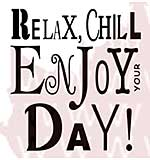 Woodware Clear Stamps - Relax