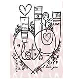 SO: Woodware Clear Stamps - Graffiti Love