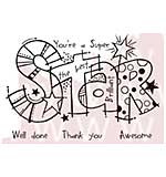 Woodware Clear Stamps - Graffiti Super Star
