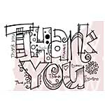 SO: Woodware Clear Stamps - Graffiti Thank You