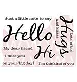 Woodware Clear Stamps - Hello