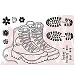SO: Woodware Clear Stamps - Walking Boots