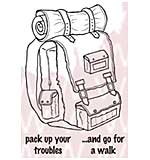Woodware Clear Stamps - Rucksack