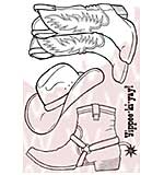 Woodware Clear Stamps - Cowboy Boots
