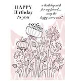 SO: Woodware Clear Stamps - Meadow Flower