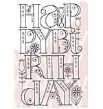 SO: Woodware Clear Stamps - Happy Birthday By Hand