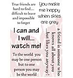 Woodware Clear Stamps - True Friend