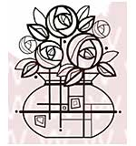 WA16 Woodware Clear Stamps - Deco Roses