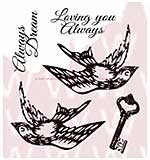 WA16 Woodware Clear Stamps - Love Elements