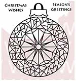 WA16 Woodware Clear Stamps - Mosaic Bauble