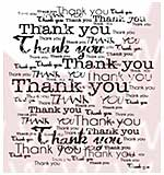 WA16 Woodware Clear Stamps - Distress Thank you B