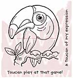 WA16 Woodware Clear Stamps - Toucan