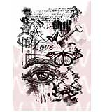 WA16 Woodware Clear Stamps - Love Collage
