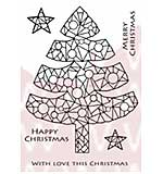 WA16 Woodware Clear Stamps - Mosaic Tree