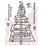 WA16 Woodware Clear Stamps - Paperclip Tree