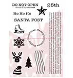 WA16 Woodware Clear Stamps - Santa Post Elements