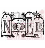 WA16 Woodware Clear Stamps - Noel Tags