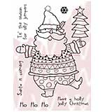 WA16 Woodware Clear Stamps - Santa's Silly Jumper
