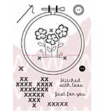 WA16 Woodware Clear Stamps - Embroidery Hoop