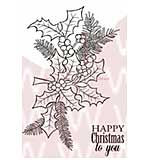 WA16 Woodware Clear Stamps - Yew and Holly