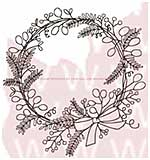 WA16 Woodware Clear Stamps - Sketchy Wreath