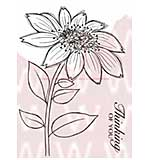 WA16 Woodware Clear Stamps - Whimsical Flower Mary Jane