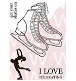 SO: WA16 Woodware Clear Stamps - Ice Skates
