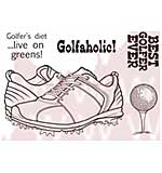 WA16 Woodware Clear Stamps - Golf Shoes