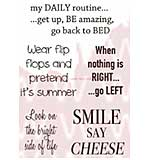 WA16 Woodware Clear Stamps - Daily Ditties