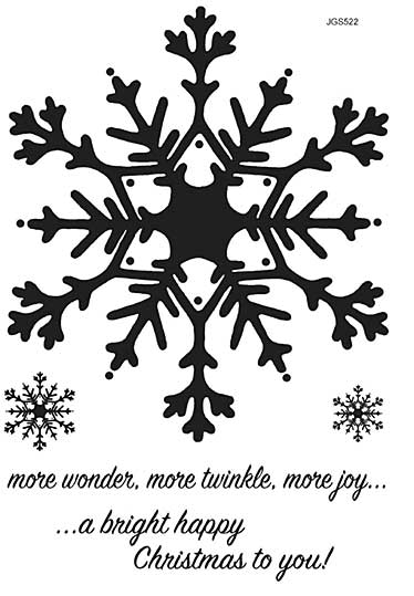 Woodware Clear Singles - Huge Snowflake