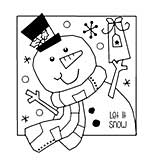 SO: Woodware Clear Singles - Jolly Snowman