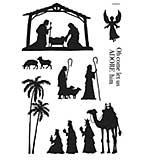 Woodware Clear Singles - Nativity Silhouette